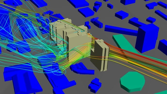 Commercial Architects Wind Flow